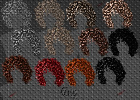 Curly Hair Stock by Ankori