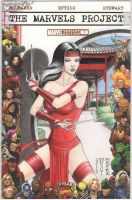 The Marvels Project - Elektra Sketch Comic Cover by DenaeFrazierStudios
