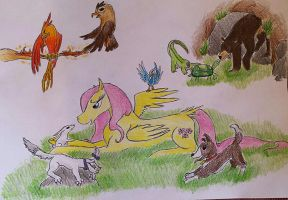 All my creatures by Dawn22Eagle