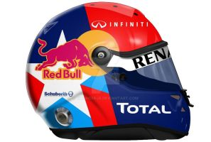 Vettel Helmet US GP by engineerJR