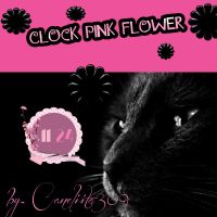 Skin Clock Pink Flower by SriitaDeWatt