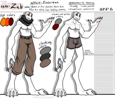 Zub's new reference sheet (23.6.2014) by Drawotion
