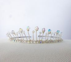 Dainty Princess Tiara with Swarovski Crystals by FayeValentineJewelry