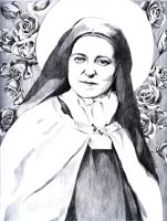St. Therese of Lisieux by GloriaDei
