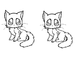 Adoptable cat line-art by wolfedoutcats
