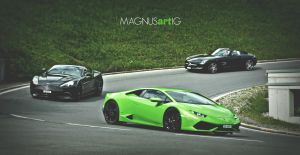 Supercars in the mountains by MAGNUSartIG