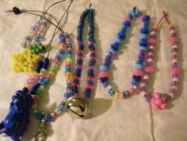 Kandi Necklaces by kookiekween99