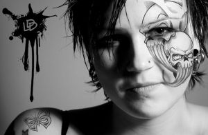 Face Tatoo Girl by DDL999