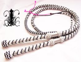Black gray and glow bullwhip pair by Squidfuchuan