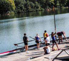 Rowing on the Rhone 1 Beaucaire. France by jennystokes