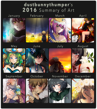 2016 Summary of Art by DustBunnyThumper
