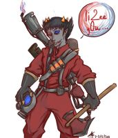 Sollux as Pyro by azzash