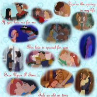 Disney couples Valentines day by Iranaa