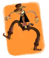 Cowboy doodling by caiobuca