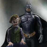 Batman and Joker by jonesmac2006