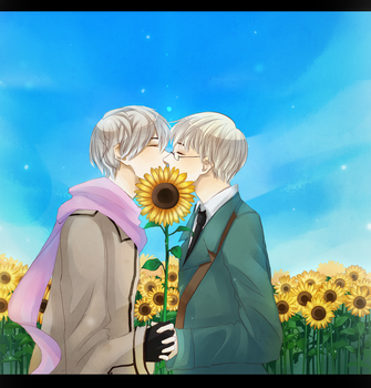 -APH- One kiss by StarlitHoliday