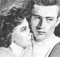 James Dean and Natalie Wood by Macca4ever
