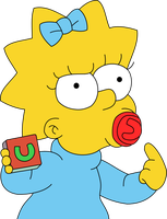 Maggie Simpson not amused with her teacher by Mighty355
