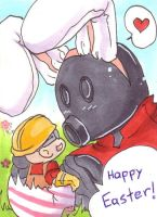 TF2 - ACEO Happy Easter by Pandablubb