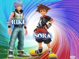 Sora Riku Dream Drop Distance by VexenRandomDrawerGuy
