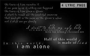 Nightmare Lyric PNG Pack by BeforeIDecay1996