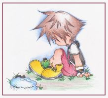 Sora and the frog by AonAllstars
