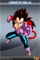 Dragon Ball GT - Vegeta SSJ4 by DBCProject