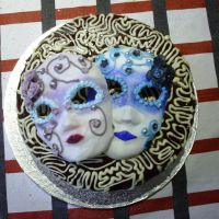 venetian mask cake by Dark-Arts-And-Crafts