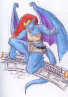 Demona on a Stargate by Nebulan