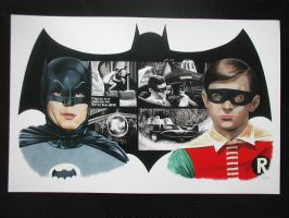 Batman and Robin 1966 painting by Ken-Branch