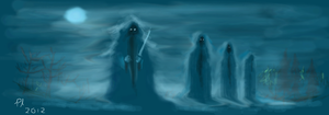 Ring Wraiths in the Mist by philippeL