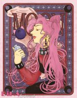 Black Lady Nouveau by DiHA-Artwork