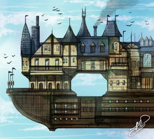 Airship City by DarkZeroInside