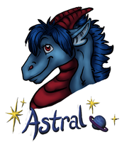 Astral Bust Badge by BGArts