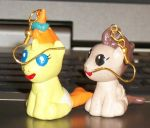 Pumpkin Cake and Pound Cake mlp earrings by MadPonyScientist