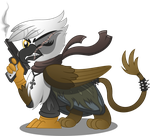 Gawdyna Grimfeathers (Commission Vector) by drawponies