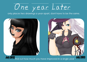 One Year Meme july by CuddlyBunneh