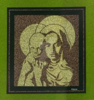 Holy Mother and Child (gold) by DeanJohnsonArtStudio