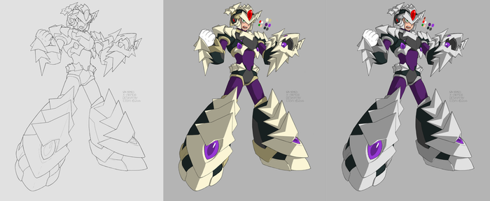Drake Armor X WIP color by Essai