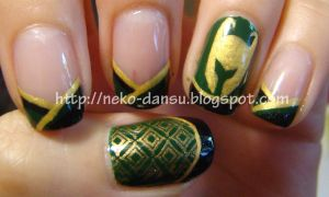 Loki Nails by neko-dansu