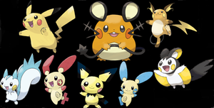 Electric Rodents of the Pokemon series by Pokebub