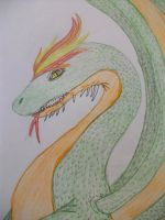 the adverage dragon by EleeArt