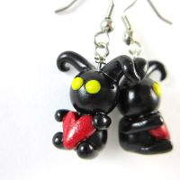 Kingdom Hearts Heartless earrings by TrenoNights