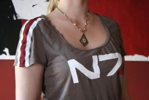 Mass Effect N7 Shirt Handmade by BrassIvyDesign