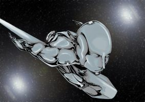 The Silver Surfer by adriannauk