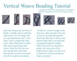 Vertical Weave Beading Lesson by Ice-Dragoness