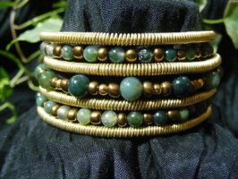 Layered Bangle Bracelet by BacktoEarthCreations
