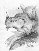 Giant Reptile, sketch by alessandelpho