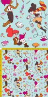 Geek Girls Fabric by aimeekitty
