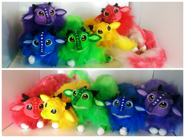 Handmade Poseable Fruit Dragons SOLD by KaypeaCreations